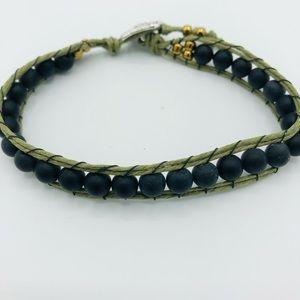 Men's Agate Wrap Bracelet